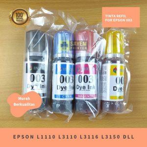 Tinta Epson 003 L1110 L3110 L3116 L3150 Original Inxmo